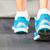 futócipők · futó · nő · sétál · felfelé · lépcsősor - stock fotó © luckyraccoon