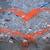 kırmızı · boyalı · kalp · beton · duvar · sevmek - stok fotoğraf © luckyraccoon