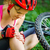 dor · bicicleta · mulher · menina · sessao · rosto - foto stock © luckyraccoon