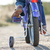 Kids bike with training wheels closeup stock photo © luckyraccoon