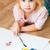 cute · pequeño · nina · pintura · cepillo - foto stock © luckyraccoon