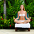 Young woman sitting in lotus position  stock photo © luckyraccoon