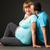 mutlu · genç · hamile · kadın · koca · Noel - stok fotoğraf © luckyraccoon