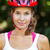 Portrait of happy young cyclist in sport clothes and helmet. stock photo © luckyraccoon