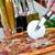 クローズアップ · ピザ · サラミ · キノコ · 木材 · 健康 - ストックフォト © luckyraccoon
