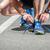 ランニングシューズ · トレーニング · 準備 · 男 · 歩道 · 靴 - ストックフォト © luckyraccoon