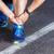 esecuzione · maschio · runner · primo · piano · scarpe · da · corsa · esterna - foto d'archivio © luckyraccoon