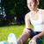 joelho · ferimento · mulher · dolorido · branco - foto stock © luckyraccoon