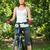 jeune · femme · équitation · VTT · femme · fille - photo stock © luckyraccoon