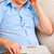gelukkig · man · bank · praten · telefoon · home - stockfoto © luckyraccoon