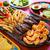 mexicano · carne · de · vacuno · pollo · fajitas · camarón - foto stock © lunamarina