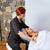 spalle · collo · massaggio · donna · mani - foto d'archivio © lunamarina