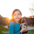 children kid girl playing with puppy dog chihuahua stock photo © lunamarina