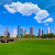 Houston · skyline · blauwe · hemel · park · Texas - stockfoto © lunamarina