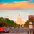 pôr · do · sol · congresso · Washington · DC · Pensilvânia · EUA · estrada - foto stock © lunamarina