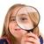 dziewczyna · patrząc · lupą · biały · twarz · szkła - zdjęcia stock © lunamarina