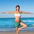 беременна · йога · женщину · пляж · ребенка · здоровья - Сток-фото © lunamarina