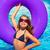 bikini girl with sunglasses and inflatable pool ring stock photo © lunamarina