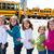 okul · otobüsü · durdurmak · yandan · görünüş · sinyal · sokak · otobüs - stok fotoğraf © lunamarina