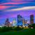 Houston · Teksas · modern · ufuk · çizgisi · gün · batımı · tan - stok fotoğraf © lunamarina