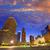 Houston · centro · de · la · ciudad · horizonte · puesta · de · sol · Texas · sur - foto stock © lunamarina