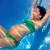 красивой · беременная · женщина · подводного · синий · бассейна - Сток-фото © lunamarina