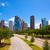 Houston · Teksas · ufuk · çizgisi · modern · mavi · gökyüzü · görmek - stok fotoğraf © lunamarina