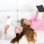kid · Mädchen · spielen · Sofa - stock foto © lunamarina