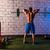 背面図 · 小さな · 男性 · ボディービルダー · 重量 - ストックフォト © lunamarina