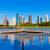 ヒューストン · スカイライン · 反射 · テキサス州 · 米国 · 空 - ストックフォト © lunamarina