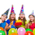 happy kid girls birthday party balloons candy stock photo © lunamarina