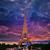 eiffel tower at sunset paris france stock photo © lunamarina