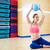 pilates · mujer · estabilidad · pelota · ejercicio · gimnasio - foto stock © lunamarina