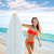 esmer · sörfçü · genç · kız · sörf · plaj - stok fotoğraf © lunamarina