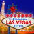 welcome to fabulous las vegas sign sunset with strip stock photo © lunamarina