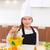 ブロンド · 少女 · シェフ · サラダ · 学校 · 幸せ - ストックフォト © lunamarina