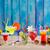 sexo · playa · foto · fresa · pina · vidrio - foto stock © lunamarina