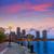 Boston sunset skyline at Fan Pier Massachusetts stock photo © lunamarina