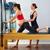 mujer · embarazada · pilates · ejercicio · entrenamiento · entrenador · personal · mujer - foto stock © lunamarina