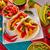 メキシコ料理 · 赤 · プレート · レモン · 唐辛子 · ランチ - ストックフォト © lunamarina