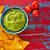 nachos · zöldségek · piros · mártás · sajt · izolált - stock fotó © lunamarina