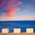 日没 · バレンシア · 鴎 · 太陽 · ビーチ · 雲 - ストックフォト © lunamarina