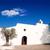 witte · kerk · kruisen · stad · zon - stockfoto © lunamarina