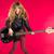 blond · Rock · rouler · fille · basse · guitare - photo stock © lunamarina