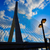 híd · Boston · részlet · amerikai · zászló · város · zászló - stock fotó © lunamarina