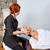 testa · massaggio · donna · collo · mani · faccia - foto d'archivio © lunamarina