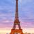 Eiffeltoren · zonsondergang · Parijs · Frankrijk · hemel · gebouw - stockfoto © lunamarina