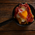 tapas · törött · tojások · sonka · tojássárgája · étterem - stock fotó © lunamarina