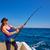 horgászbot · tekercs · csónak · halászat · kék · óceán - stock fotó © lunamarina