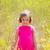 criança · criança · menina · primavera · flores · amarelas · campo - foto stock © lunamarina